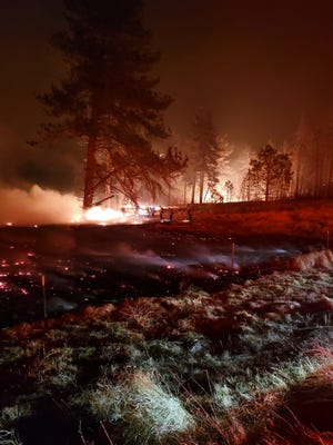 Firefighters battled a wildfire in Mountain Center in Southern California that broke out on Jan. 15.