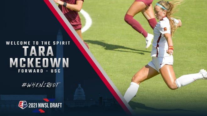The Washington Spirit traded up to make Newbury Park High graduate Tara McKeown the No. 8 overall pick in the 2021 National Women's Soccer League draft.