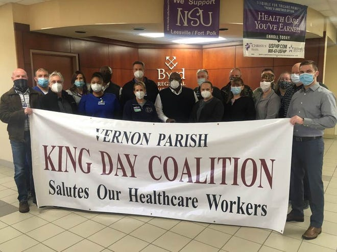 The Vernon Parish King Day Coalition honored the staff at Byrd Regional Hospital on Saturday.
