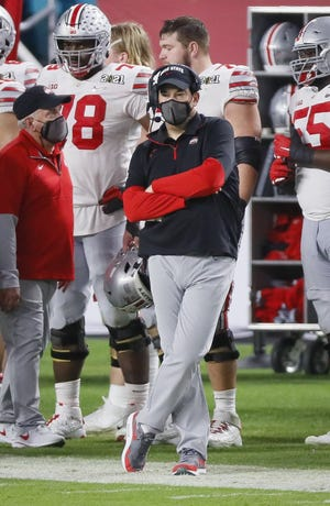 Ryan Day's fourth-quarter posture speaks volumes about how Ohio State's night went against Alabama on Monday in the national championship game.