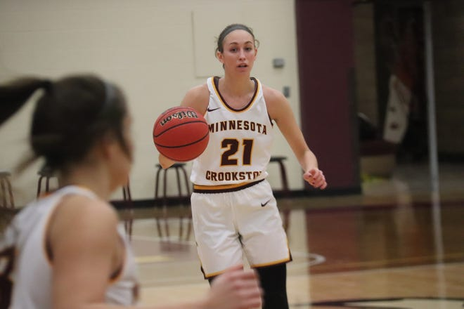 Jes Mertens led the Minnesota Crookston women's basketball team in scoring, steals and minutes played this season.