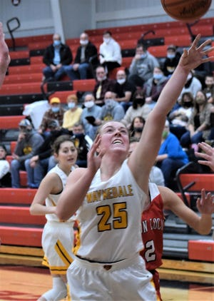 A steal and coast-to-coast layup by Brooklyn Troyer in the waning seconds of the game lifted Waynedale to a 65-63 victory over the Jets.