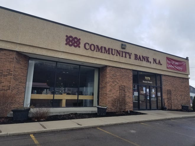 The Hornell Community Bank branch located at 7279 Seneca Rd., along with three others in the area, will close effective Friday, April 9.