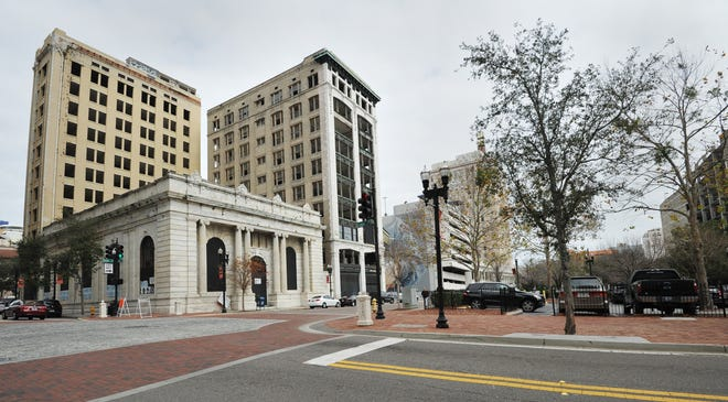 The Laura Street Trio was built over a decade from 1902 to 1912 in downtown Jacksonville. Many developers have tried to restore the vacant buildings. The latest proposal for a Marriott Autograph Collection hotel would require $24.7 million from the city of Jacksonville.