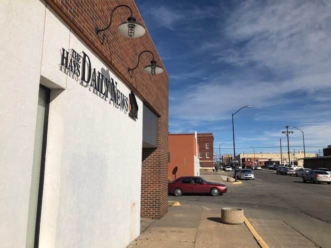 The Hays Daily News owner Gannett Co. Inc. is looking for a buyer for its 15,000-square foot building in downtown Hays, and seeks 2,500 square feet of office space downtown to lease for its storefront and four employees.