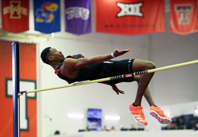 Texas Tech high jumper Caleb Wilborn participates in last year's Corky Classic at the Sports Performance. The Red Raiders' traditional home and season opener is scheduled for Saturday.  [Sam Grenadier/A-J Media]