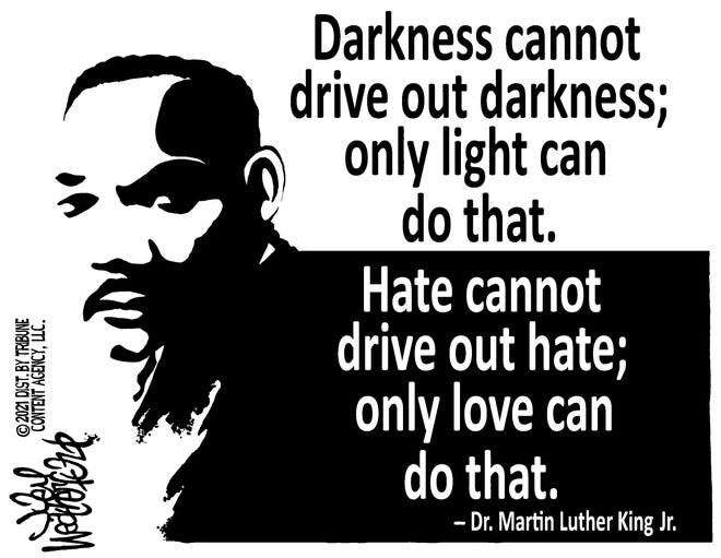 Joey Weatherford cartoon on Dr. Martin Luther King Jr.