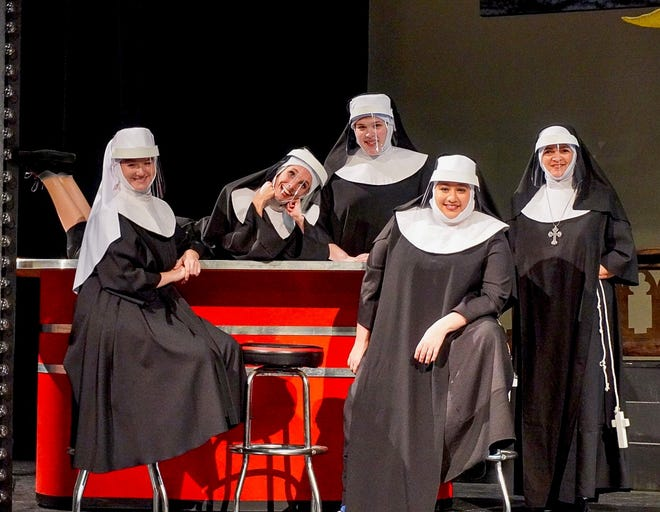 "The cast of ""Nunsense"" at the Manatee Performing Arts Center."