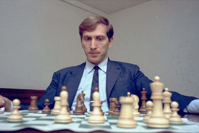 In 2008, Bobby Fischer, the chess grandmaster who became a Cold War icon when he dethroned the Soviet Union's Boris Spassky as world champion in 1972, died in Reykjavik, Iceland, at 64.