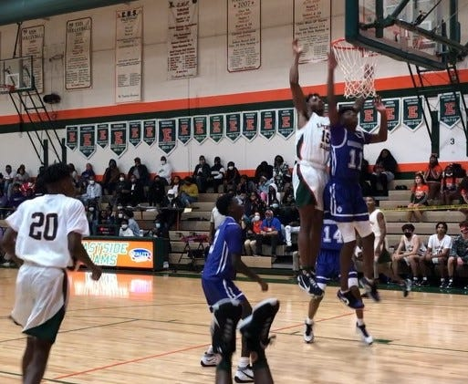 Game action Friday between Eastside and visiting Gainesville.