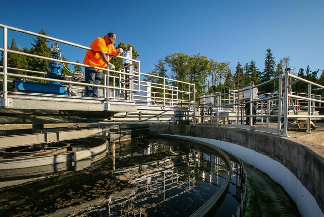 Approximately 250,000 gallons of partially treated effluent was discharged from the city of Bainbridge Island's Wastewater Treatment Plant outfall into the Puget Sound.
