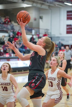 Buckeye Central's Claudia Pifher goes up for a layup.