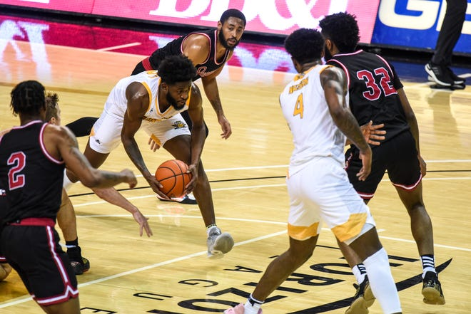 Trevon Faulkner's 3-pointer from three-quarters court before the halftime buzzer Friday night got NKU some national exposure.