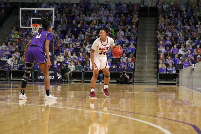 he New Mexico State women's basketball teamopened Western Athletic Conference play with a 61-53 overtime win over Grand Canyon.