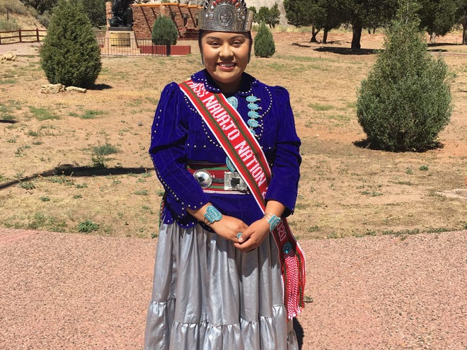Miss Navajo Nation Shaandiin Parrish attends a tribal presidential signing ceremony on Sept. 13, 2019, in Window Rock, Arizona.