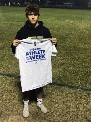 PNJ Athlete of the Week - Pensacola Catholic boys soccer's Miller Thorsen