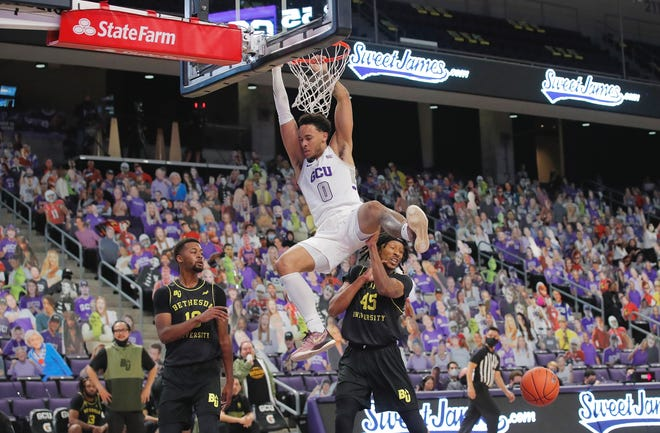 Sean Miller-Moore scored a career-high 19 points in Grand Canyon's non-conference rout of Bethesda University on Friday. GCU Athletics