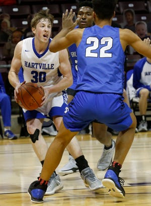 Hartville defeated Greenwood 48-31 in the Springfield R-12 Winter Classic at JQH Arena on Friday, Jan. 15, 2021.