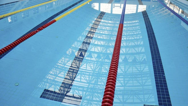 Stock photo of a swimming pool.