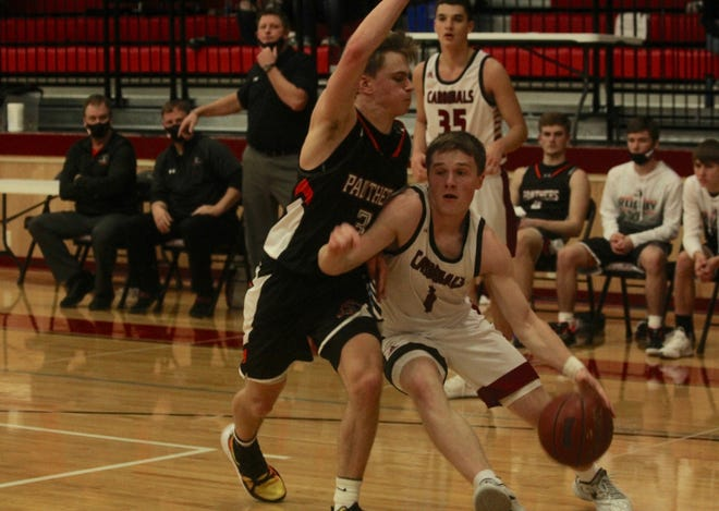 Langdon/Edmore/Munich defeated No. 8 Rugby in overtime, 59-55 on Jan. 16, 2021 at Langdon Area High School