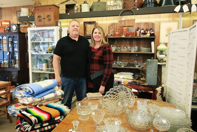Paul and Tess Phillips have begun a new venture, opening the Long Ago Antique Mall at 110 N. Main, a store that features antiques, crafts, furniture, clothing, and a variety of items.