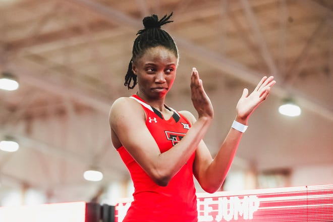 Texas Tech's Ruth Usoro won the triple jump and the long jump in the Corky Classic on Saturday at the Sports Performance Center. Usoro's mark of 46 feet, 10 1/4 inches was second best in NCAA history.