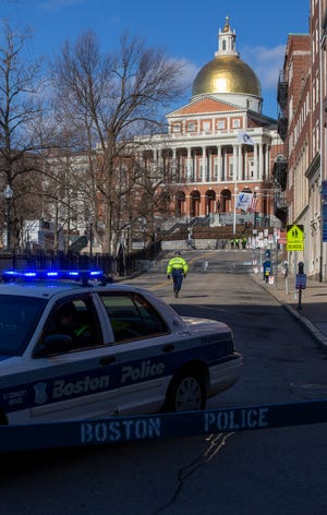 The State House is still mostly closed to the public as legislators decide when to fully reopen the building amid a surge in COVID cases.