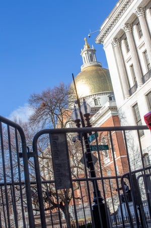 A number of streets in Boston's Beacon Hill around the State House were closed down on Sunday as a precaution to any protesters in the wake of the storming of the U.S. Capitol this month and ahead of the presidential inauguration.