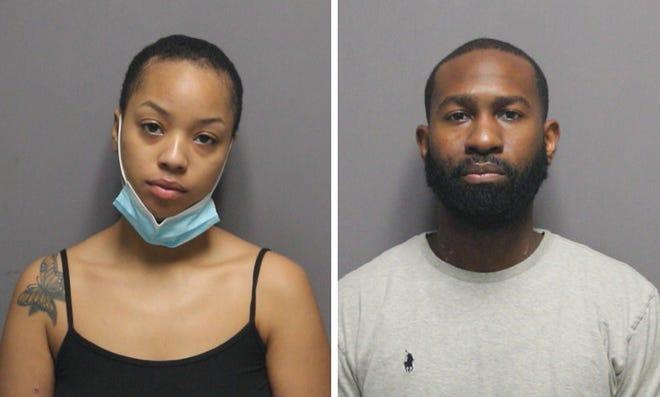 Tatiana Lowrie, 21, left, and Marvin Bastien, 35, both of Providence.