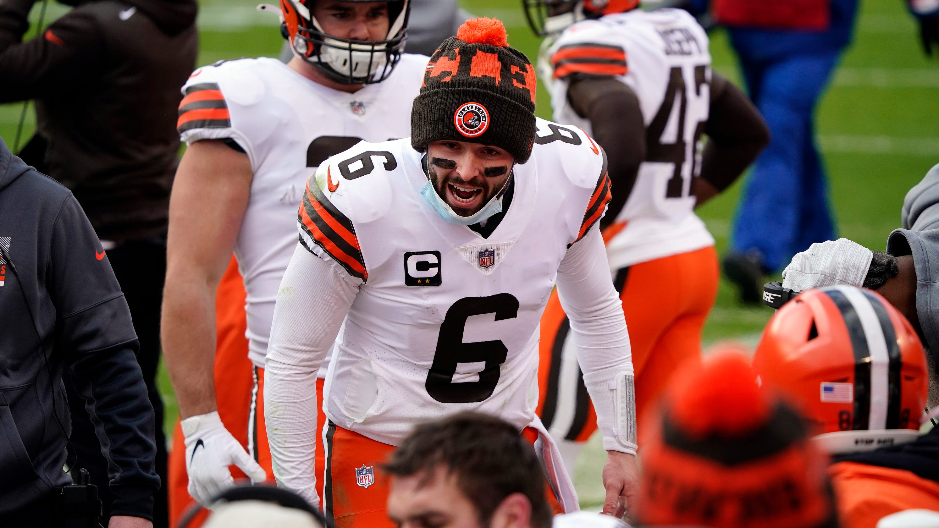 Browns QB Baker Mayfield not sweating contract extension: 'I want to go out and win games'