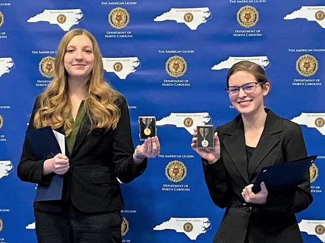 Burns High School sophomore Savannah McGlothlin beat out  Allie MacArthur, a junior at Crest High School, at the American Legion's oratorical contest.