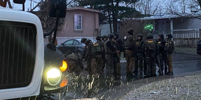SWAT teams on scene at the 200 block of Lakeview Drive.
