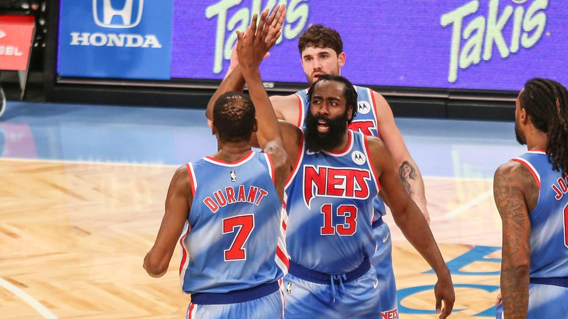 """NBA- Esordio Harden ai Nets col botto! Il """"Barba"""" e KD guidano Brookln alla vittoria"""