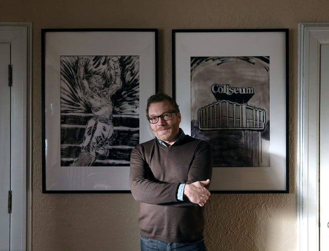 Author David Giffels, pictured at his Akron home.