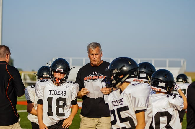 Gilbert junior high football coach Mike Kruse was recently named the 2020 Don Taft Memorial Junior High Coaches' Award winner by the Iowa Football Coaches Association. Kruse has coached junior high football at Gilbert for 28 years.