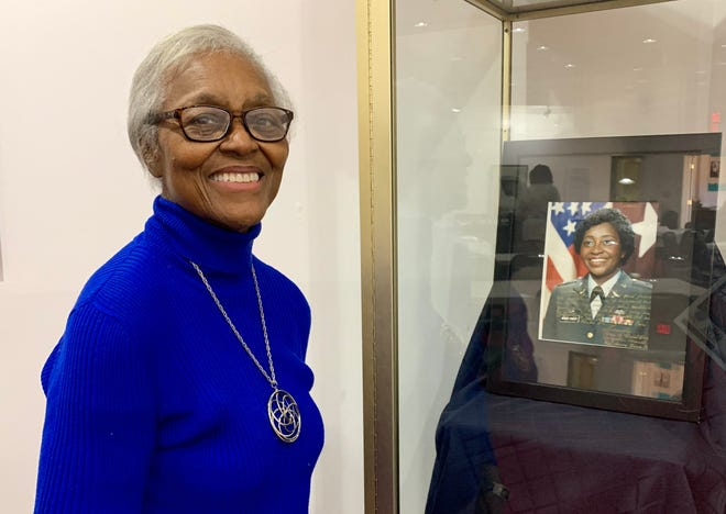 Lucy Craft Laney Museum executive-director Christine Miller-Betts, left, was proud to see her friend, nurse and U.S. Army Brig. Gen. Clara Adams-Ender, right, featured in the museum's African Americans in medicine exhibit on January 8, 2020.