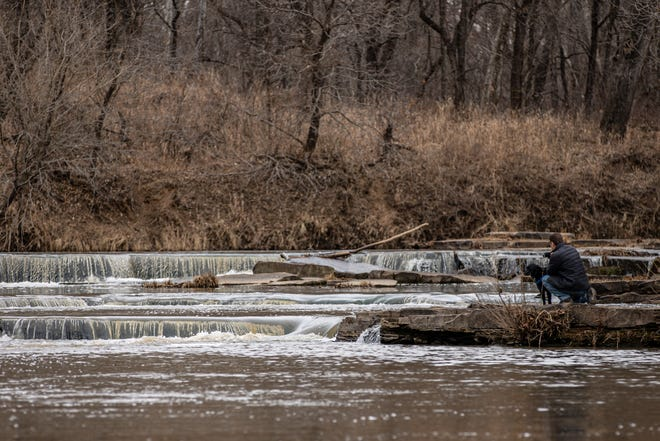 Bartlesville-area residents enjoy Martin Luther King Jr. Day out at the scenic Osage Hills Falls Trail.