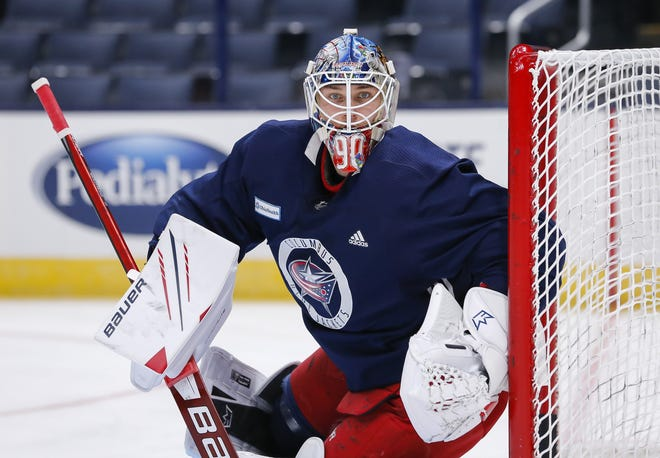 Blue Jackets goalie Elvis Merzlikins is trying to find his peak form quickly in a season that didn't include exhibition games and a training camp that lasted only two weeks.