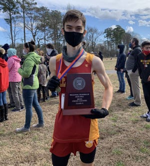 Lejeune's Tyler Shelton won the NCHSAA 1-A East Regional individual title Saturday. [Contributed Photo]
