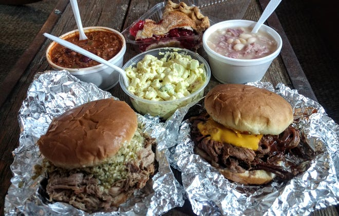 All of this food, plus a vanilla milkshake, totaled $23.80 at Kennedy's Bar-B-Que.
