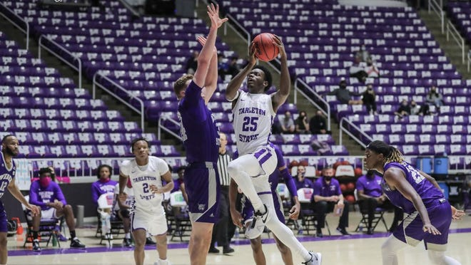 Tarleton's Shamir Bogues had 15 points and a team-high four assists when the Texans dropped a non-conference road game at Weber State 94-79 on Sunday at the Dee Events Center. The Texans came up short in its fifth straight game and moves to 2-7 overall.