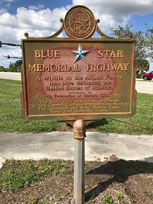 The Blue Star Memorial in North Port