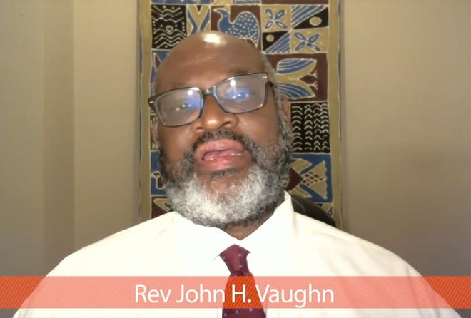 WORCESTER - Rev. John H. Vaughn gives the keynote address during the annual Martin Luther King Jr. Breakfast, presented virtually Monday January 18, 2021.