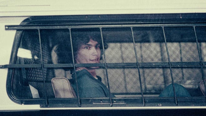 "Richard Ramirez (The Night Stalker) in an episode of ""Night Stalker: The Hunt for a Serial Killer."""
