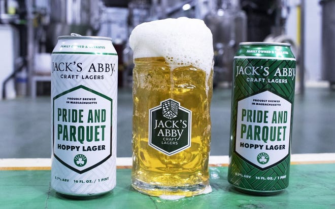 Pride and Parquet is Jack's Abby's new year-round release, brewed in partnership with the Celtics.