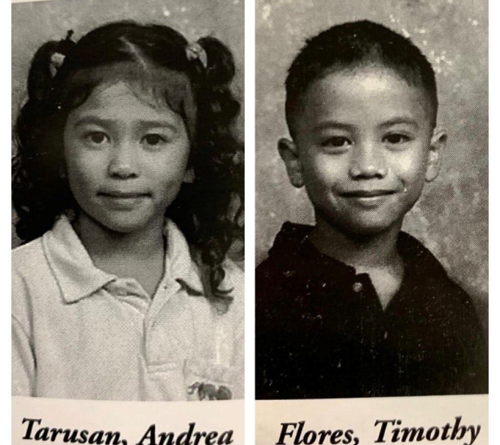 Andrea and Timothy Flores Jr. grew up near each other and attended school together.