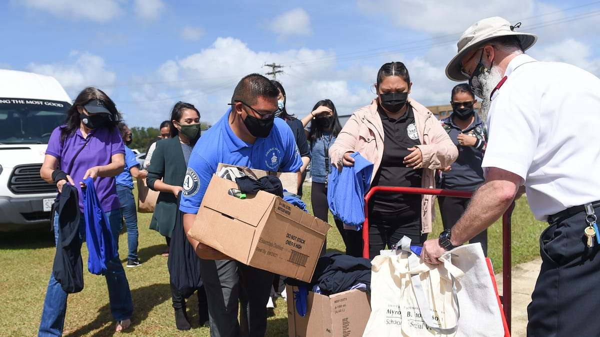 Serve Guam and AmeriCorps ship reusable luggage to Salvation Military Guam Corps headquarters