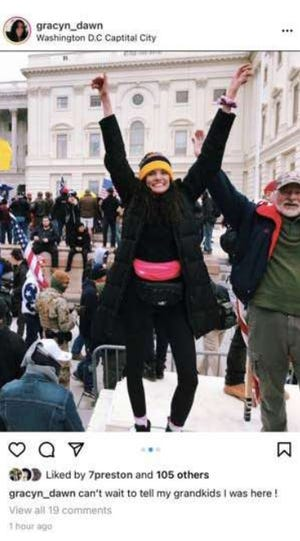 Federal prosecutors are charging UK student Gracyn Courtright in connection to the U.S. Capitol riot.