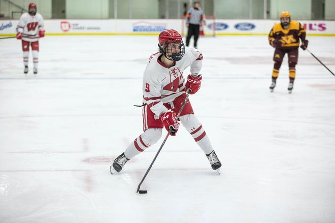 Wisconsin forward Sophie Shirley (shown in an earlier game against Minnesota this season) scored for Badgers Saturday.