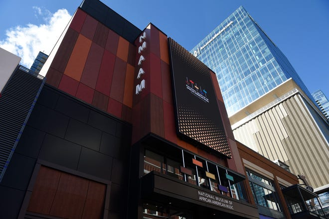 The National Museum of African American Music in Nashville, Tenn., held a socially distant ribbon cutting ceremony with elected leaders, Museum board members, and community leaders on the Monday of Martin Luther King Jr. Day, Monday, Jan. 18, 2021. The public opening is on January 30, 2021.